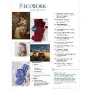 Piecework Magazine - January / February 2018 contents page