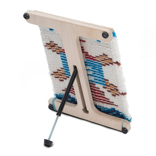 Portable weaving loom with stand