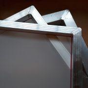 A4 Aluminium Screen Printing Frame: 43T white mesh