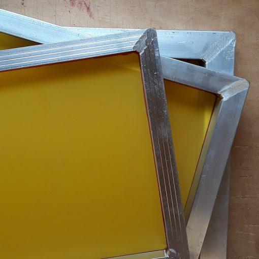 A4 Aluminium Screen Printing Frames: 90T yellow mesh