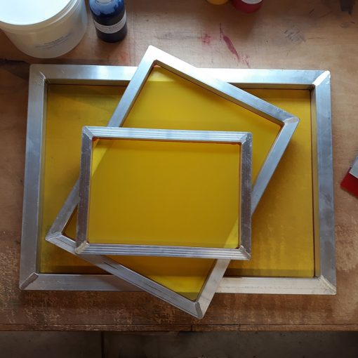 A3 Aluminium Screen Printing Frames: 90T yellow mesh