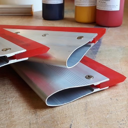 Screen printing squeegee with aluminium handle