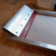 Squeegee in screen printing screen