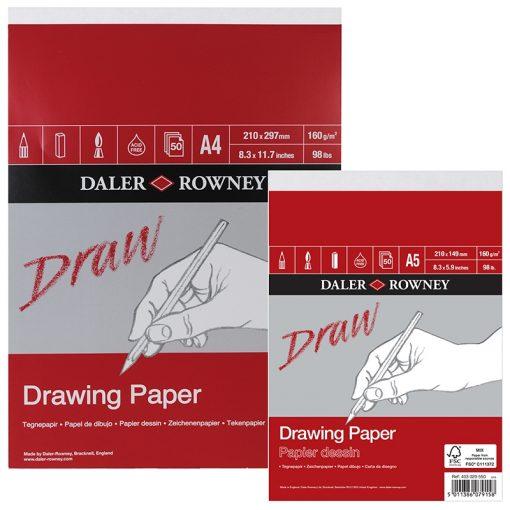 Daler Rowney Drawing Paper Medium Grain, 4 sizes