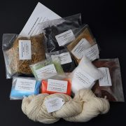 Natural Dyes and Instructions for dyeing
