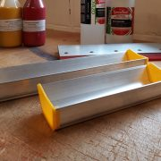 Coating trough for emulsion