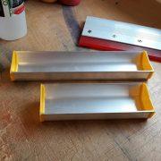 Coating trough for applying Diazo Photo Emulsion