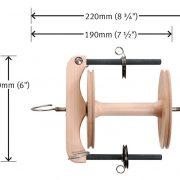 Dimensions of Ashford Freedom Flyer for Joy Spinning Wheel