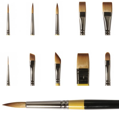 Set of System 3 brushes for acrylics