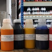 Pigments for making screen printing inks