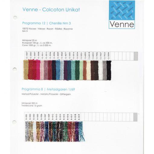 Venne Metallic/Polyester Yarn Nm 1/69 sample card