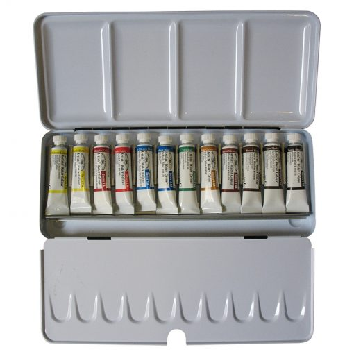 Professional Water Colour Lightweight Enamelled Box 12 Tube
