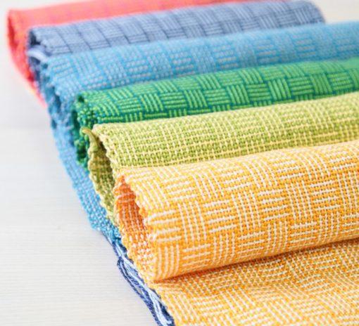 Cloth woven on Ashford Rigid Heddle Loom