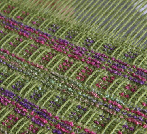 Fabric woven on Ashford Rigid Heddle Loom