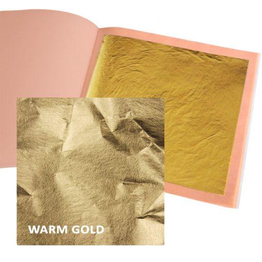 Gold Leaf Book 25 Loose leaves 8 x 8cm - Warm Gold 23.75ct