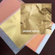 Gold Leaf Transfer Book 25 leaves 8 x 8cm - Warm 23.75ct