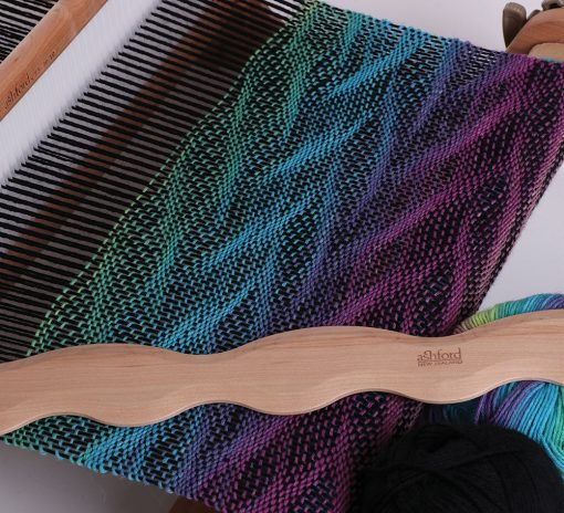 A deflected weave pattern created from the wavy shuttles