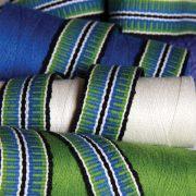 Narrow band woven on inkle loom