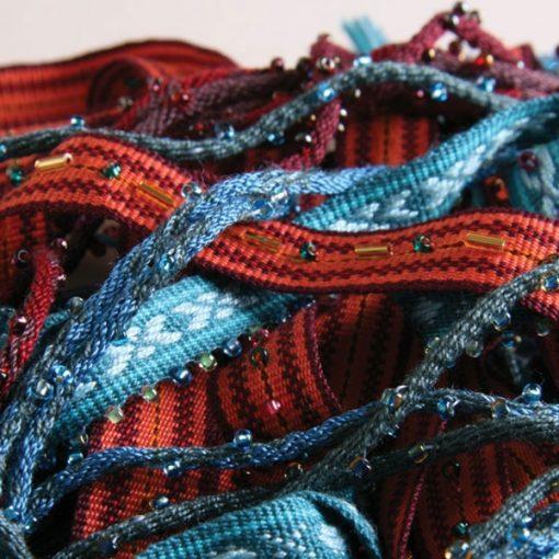 Straps woven on Ashford inkle loom