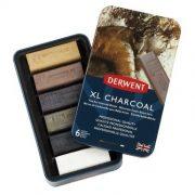 Derwent XL Charcoal Block Tin of 6