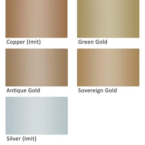Daler Rowney Goldfinger Metallic Paste colour chart