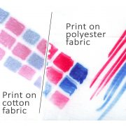 Transfer paint test on polyester fabric and cotton fabric