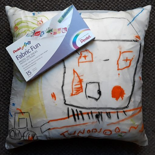 Theo and Darcy's silk cushion cover