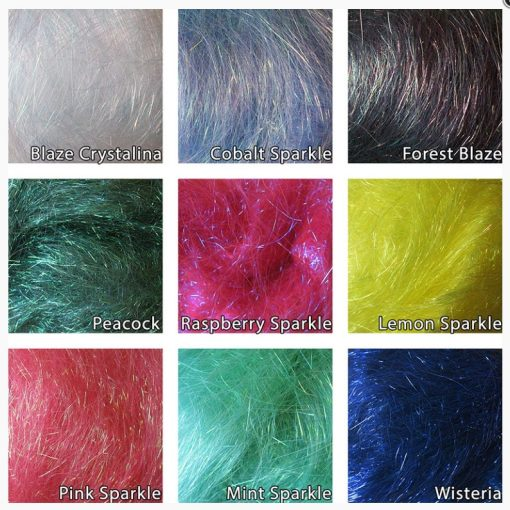 Colour chart for Angelina fibres