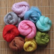 Mixed Bag of Merino Wool Tops (light colours) 1kg