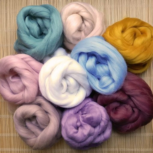 Merino Wool tops assorted colours