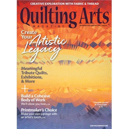 Quilting Arts Magazine - December/January 2018/19