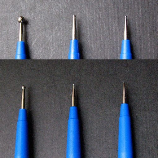 Embossing tools with 2 ball ends