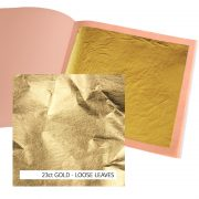 23ct Standard Gold Leaf Loose 12g: 80 x 80mm Book 25