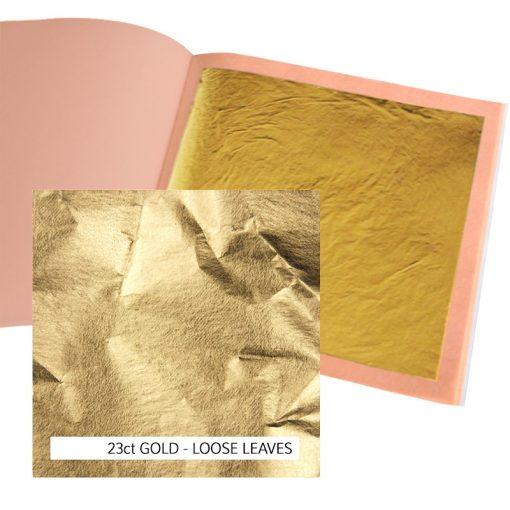 23ct Standard Gold Leaf Loose 12g: 80 x 80mm Book 25