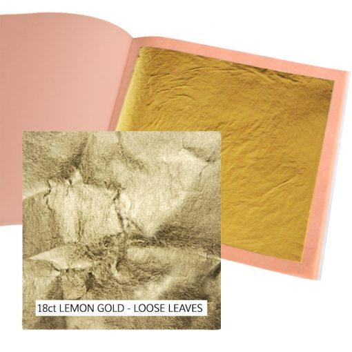 18ct Lemon Gold Leaf Loose for gilding
