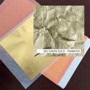 18ct Green Gold Leaf Transfer 13g: 80 x 80mm Book 25