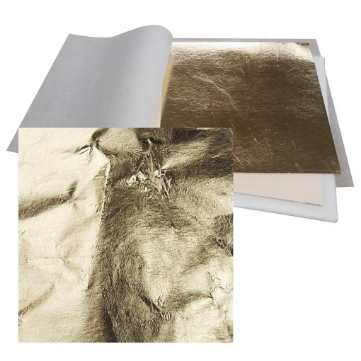 Artificial gold leaf loose sheets