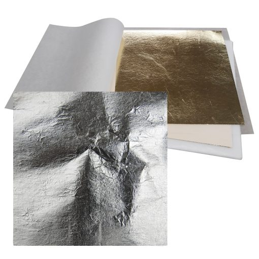Premium Imitation Metal Leaf Silver Loose: 140 x 140mm Book
