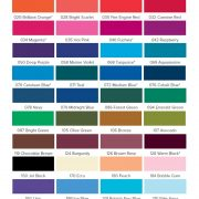 Jacquard Procion MX Dyes Colour Chart