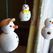 Snowman Christmas decorations made from Scupley Ultralight