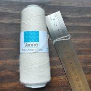 Natural White Baby Alpaca Weaving Yarn