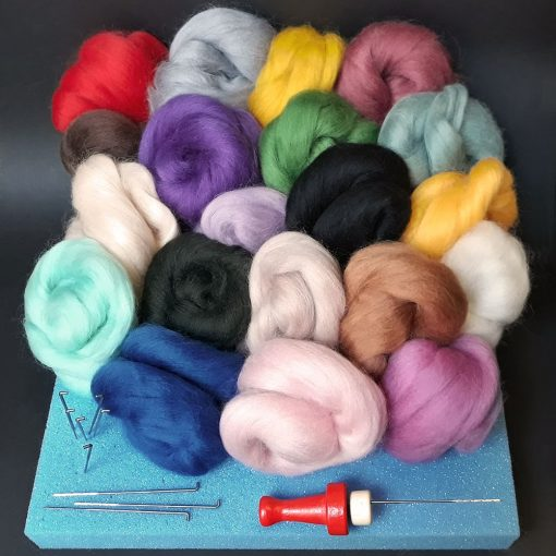 Contents of Needle Felting Kit