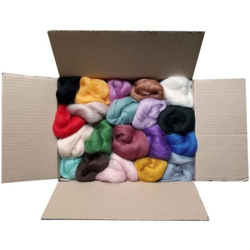 20 colours Merino Wool Tops