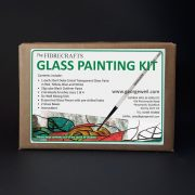 Glass Painting Kit including Deka Cristal Transparent paints
