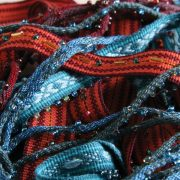 Inkle weaving with beads