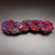 Hank of Recycled Silk Yarn from India