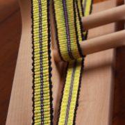 Inkle weaving on loom