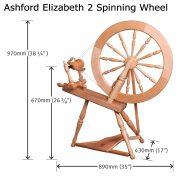 size of Ashford Elizabeth 2 Spinning Wheel