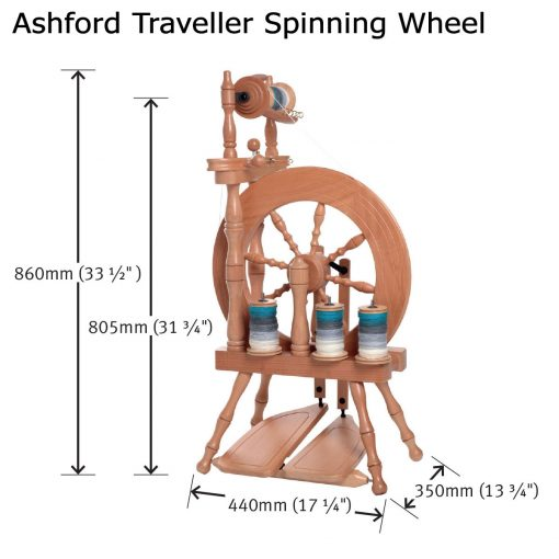 Size of Ashford Traveller Spinning Wheel