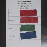 Sample card for Banana Paper